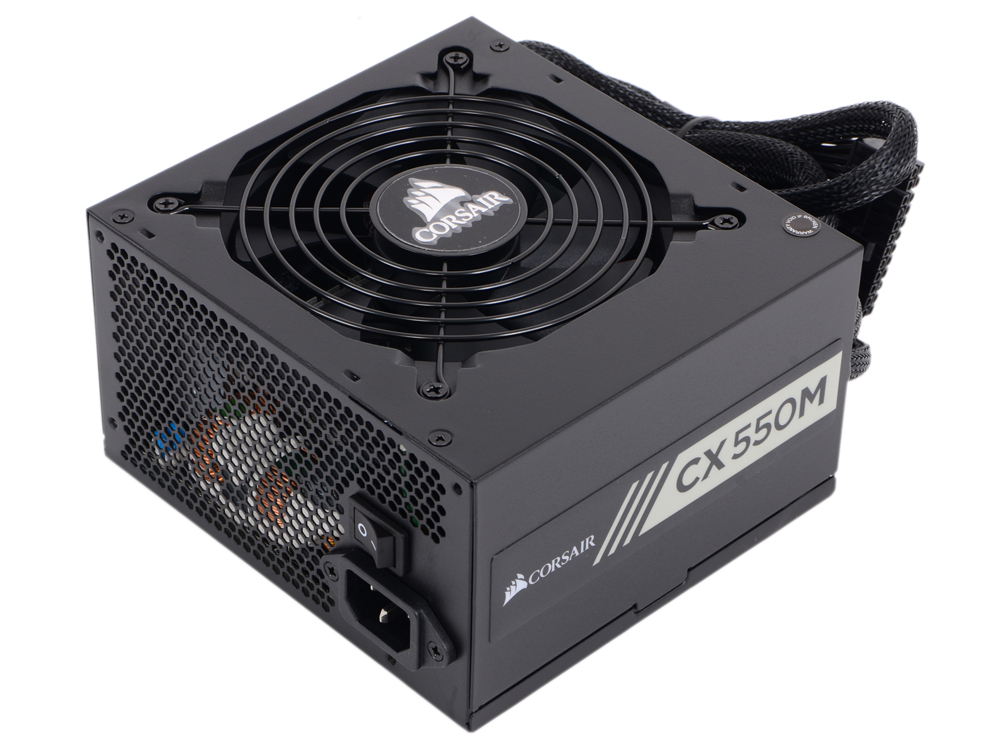 Блок питания Corsair 550W Builder Series (CX550M) v.2.4,A.PFS,80 Plus Bronze,Fan 12 cm,Modular,Retail корпус corsair obsidian series 350d window cc 9011029 ww