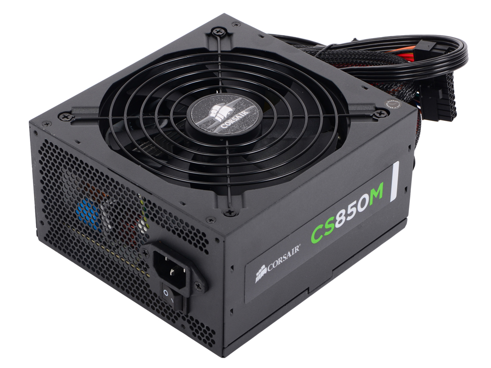 Блок питания Corsair 850W CS Series (CS850M) v.2,4,A.PFC,80 Plus Gold,Fan 14 cm,Modular,Retail
