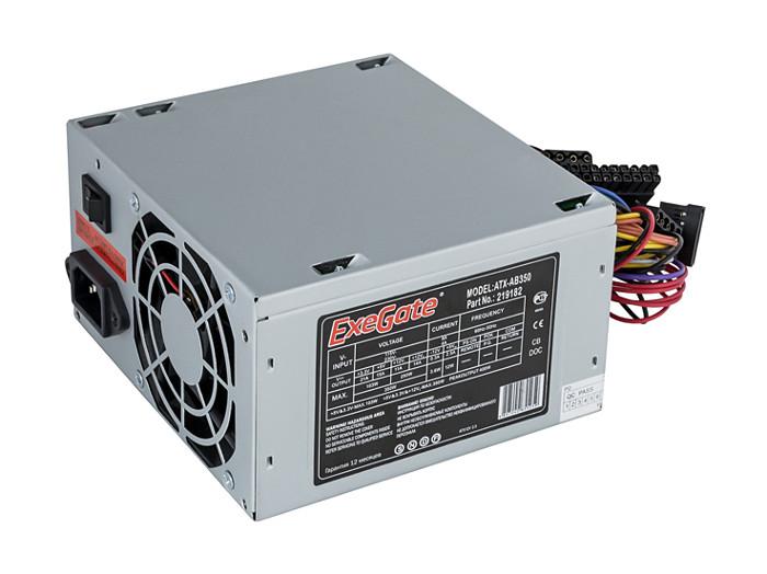 Блок питания ATX 350 Вт Exegate EX219182RUS ATX-AB350 бп atx 600 вт exegate atx xp600
