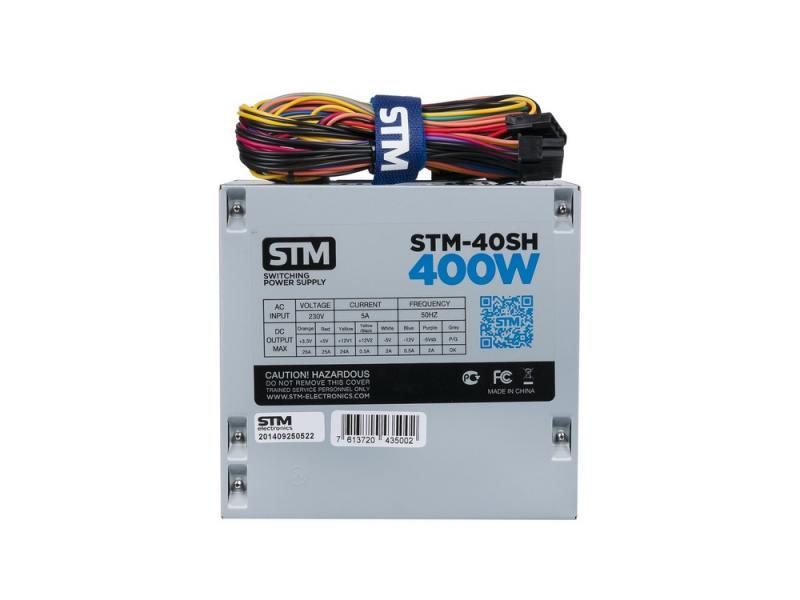 Блок питания ATX 400 Вт STM STM-40SH блок питания atx 400 вт xilence xp400r6 xn041