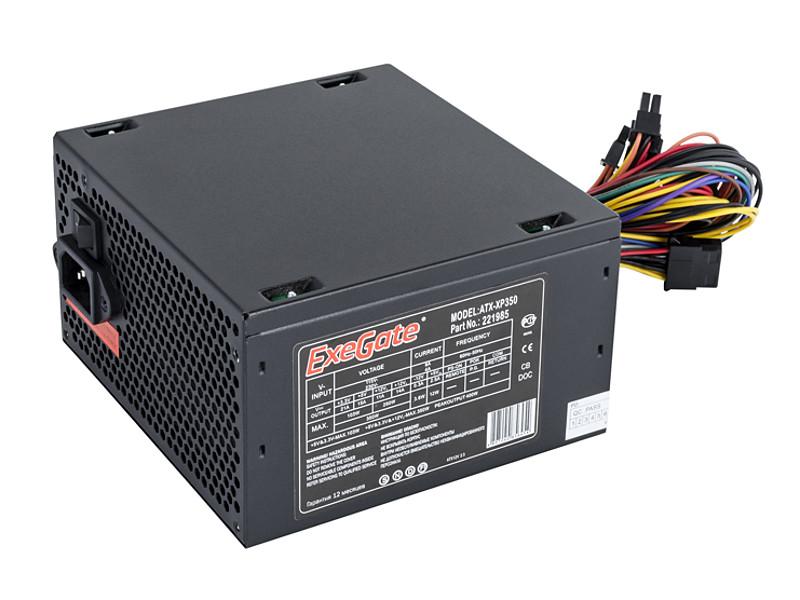 Блок питания ATX 350 Вт Exegate ATX-XP350 бп atx 350 вт exegate atx xp350