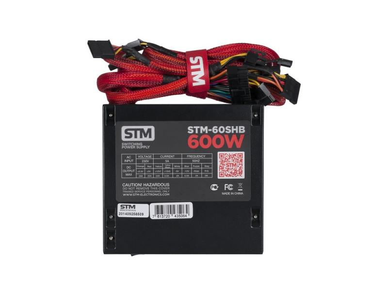 Блок питания ATX 600 Вт STM STM-60SHB цена и фото