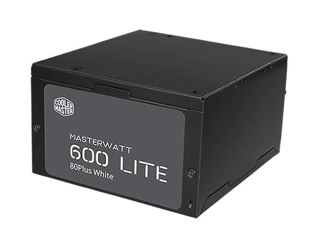 Блок питания Cooler Master 600W MasterWatt Lite (MPX-6001-ACABW-EU) 80 Plus v.2.31,A.PFS,Fan 12 cm,Retail