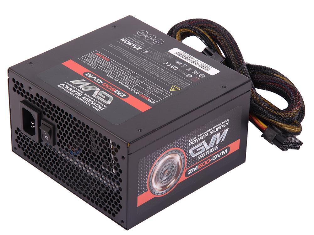 все цены на Блок питания Zalman 600W ZM600-GVM v2.31, A.PFC, 80 Plus Bronze, Fan 12 cm, Semi Modular, Retail онлайн