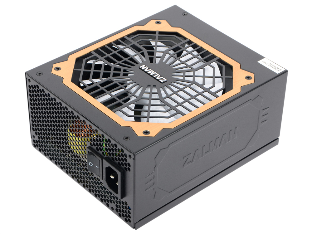 Блок питания Zalman 850W ZM850-EBT v2.3, A.PFC, 80 Plus Gold, Fan 14 cm, Fully Modular,Retail