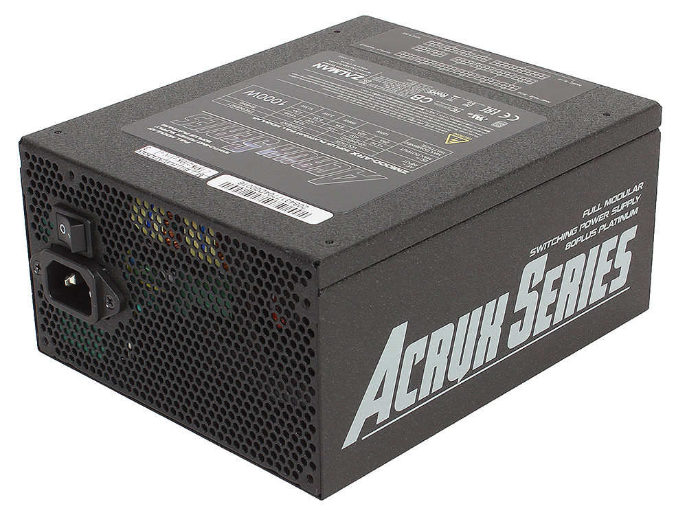 все цены на Блок питания Zalman 1000W ZM1000-ARX v2.3, A.PFC, 80 Plus Platinum, Fan 14 cm, Fully Modular,Retail