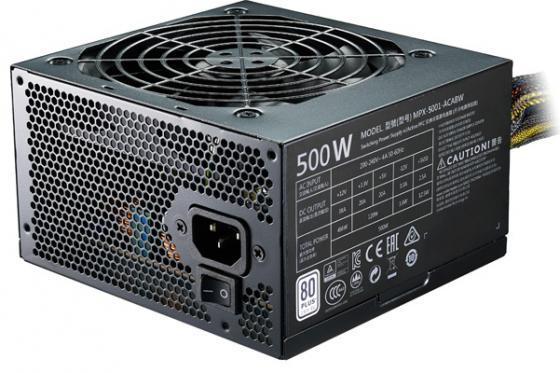 Блок питания ATX 500 Вт Cooler Master MasterWatt Lite 500 MPX-5001-ACABW-ES блок питания atx 700 вт cooler master masterwatt lite mpx 7001 acabw eu