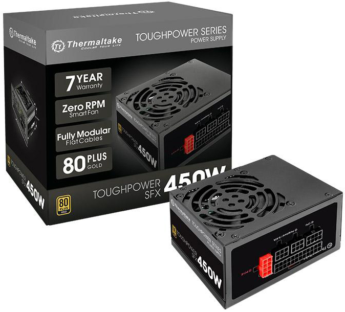 Блок питания Thermaltake Toughpower SFX 450W PS-STP-0450FPCGEU-G /Fully Modular/450W/SFX/A-PFC/8cm/EU/80PLUS Gold RTL {8} muji 6 8 8cm 180ml