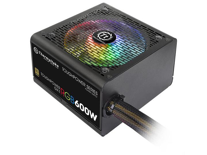 Блок питания Thermaltake Toughpower GX1 RGB 600W (PS-TPD-0600NHFAGE-1) v.2.4,A.PFS,80 Plus Gold,Fan 12 cm,Retail контроллер thermaltake fan f6 rgb ac 024 bn1nan a1
