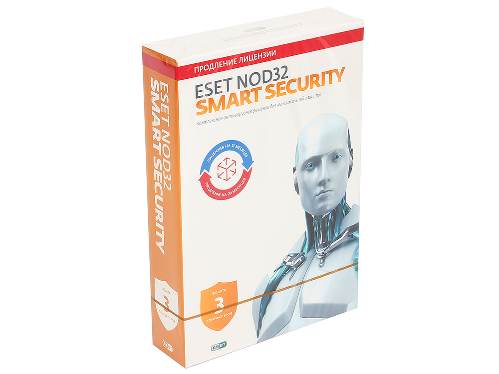 Коробка продления ESET NOD32 Smart Security - продление 20 месяцев или новая 1 год/3ПК (NOD32-ESS-2012RN(BOX)-1-1) антивирус eset nod32 smart security platinum edition лицензия на 2 года nod32 ess ns box 2 1