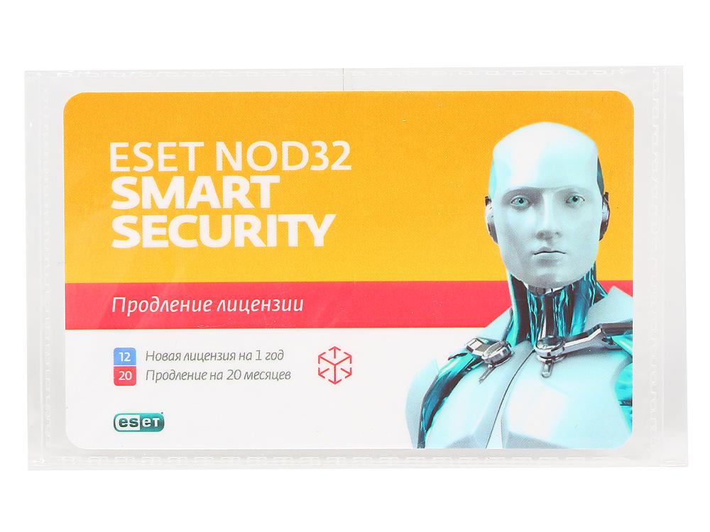 Карта продления ESET NOD32 Smart Security - продление 20 месяцев или новая 1 год/3ПК (NOD32-ESS-2012RN(CARD)-1-1) антивирус eset nod32 smart security platinum edition лицензия на 2 года nod32 ess ns box 2 1