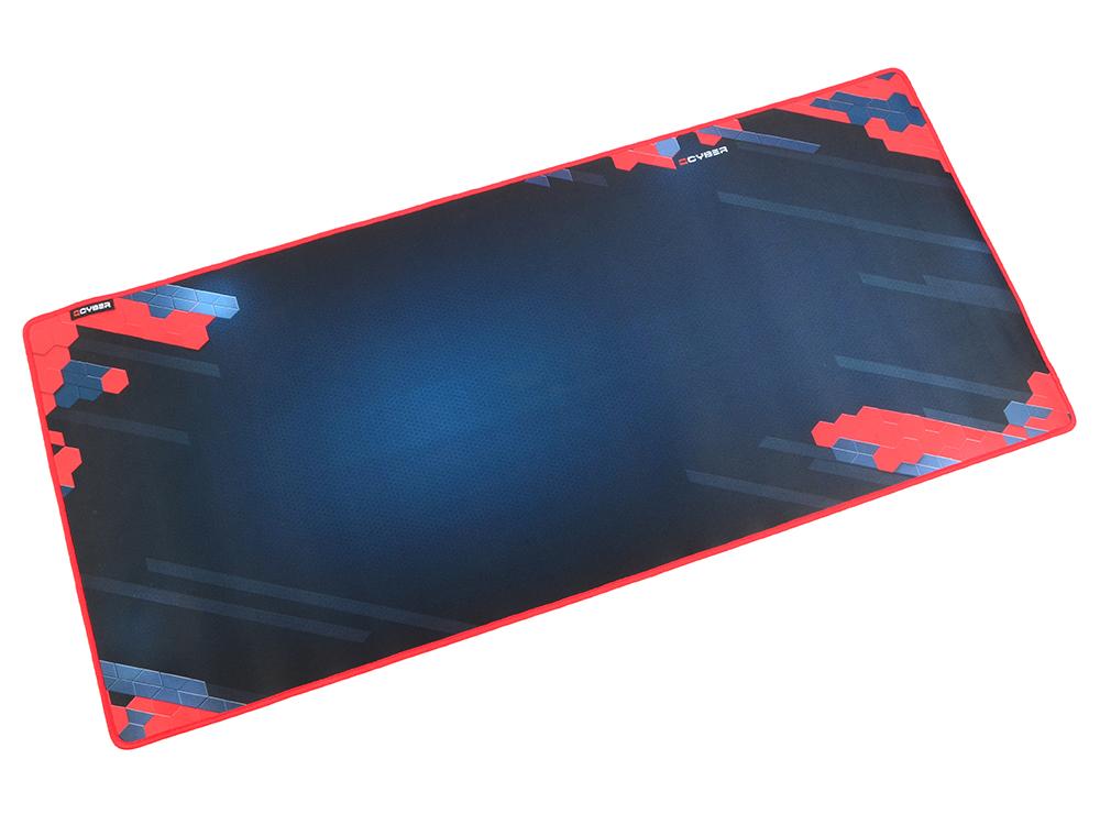 Коврик для мыши QCYBER Ultimate. игровая поверхность, размер 900х400 тонкое плетение, основа: натуральный каучук, оверлок