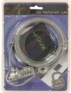 цена на Трос безопасности для защиты ноутбуков с кодовым замком Cable Lock NCL-102