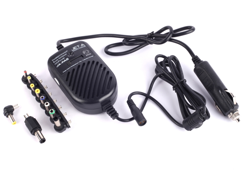 Универсальный адаптер питания для ноутбуков Jet.A JA-PA5 80Вт miniPower от прикуривателя авто