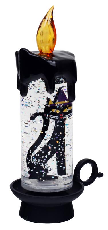 Сувенир Свеча Черная кошка ORIENT CL1304,USB настольная светодиодная лампа с регулятором яркости orient l3030 usb 3бат ааа 18 светод повышенной яркости