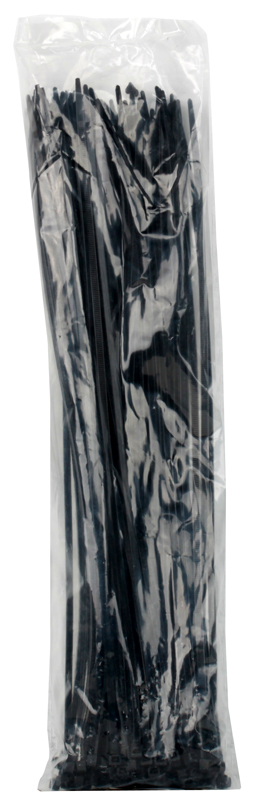 Cтяжка нейлон 5x400мм, черная (100шт./уп.) cтяжка нейлоновая неоткрывающаяся 150ммх2 5 100шт