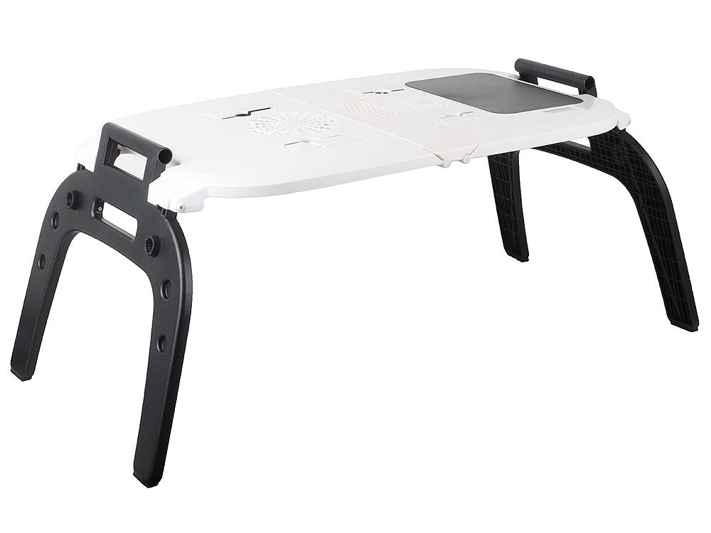 """Портативный складной прикроватный столик для ноутбука kromax SATELLITE-70 до 17"""" Встроенный охлаждающий кулер, Встроеный коврик для"""
