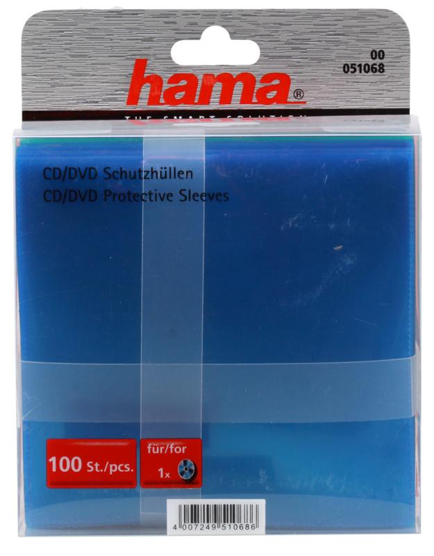 демисезонные конверты Конверты для CD, пластиковые, разноцветные, 100шт , HAMA H-51068