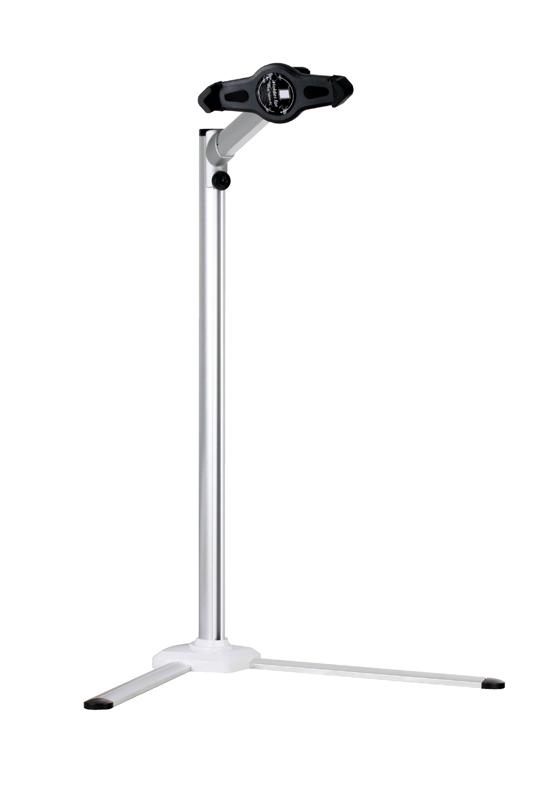 Напольный держатель для планшетов Kromax SATELLITE-100 от 7 до 12, высота от 315 до 951 мм, наклон 270°, поворот 270°, вращение экрана на 360° автомобильный держатель kromax satellite 90 на лобовое стекло для планшетного пк 7 10 дюймов