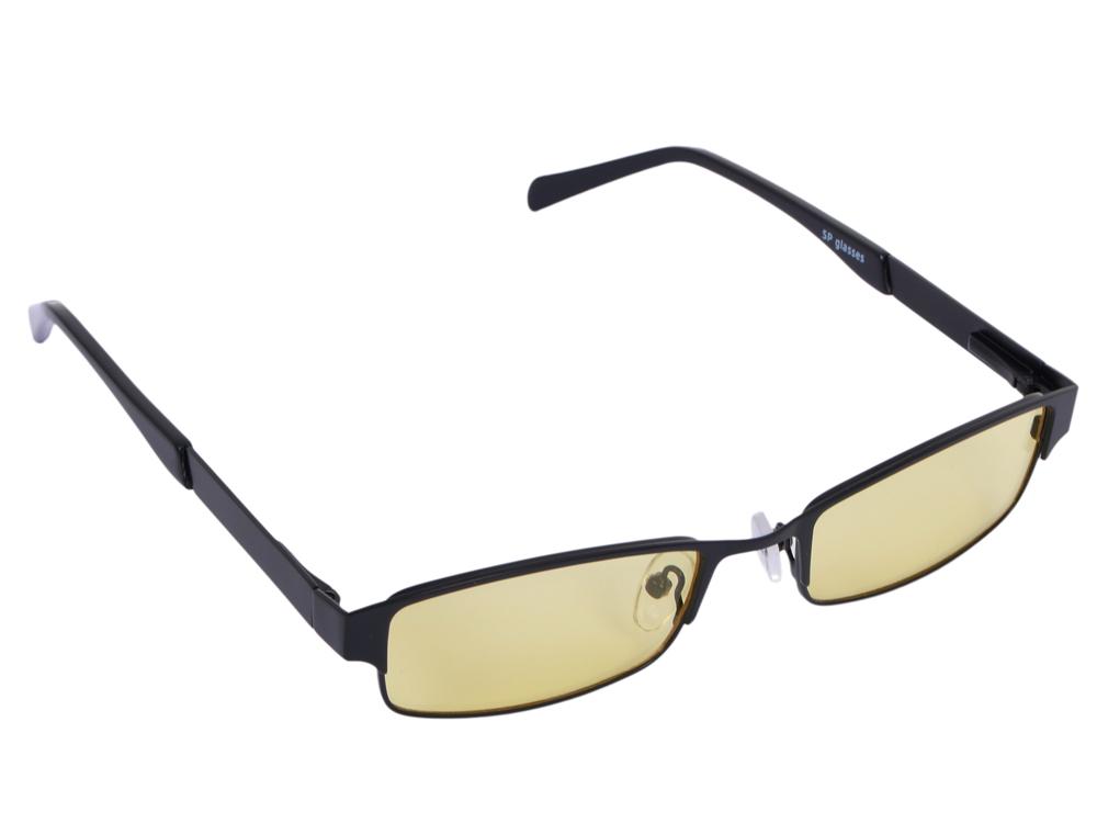 """Очки SP Glasses AF031 компьютерные (""""luxury"""", черный) в футляре с салфеткой"""