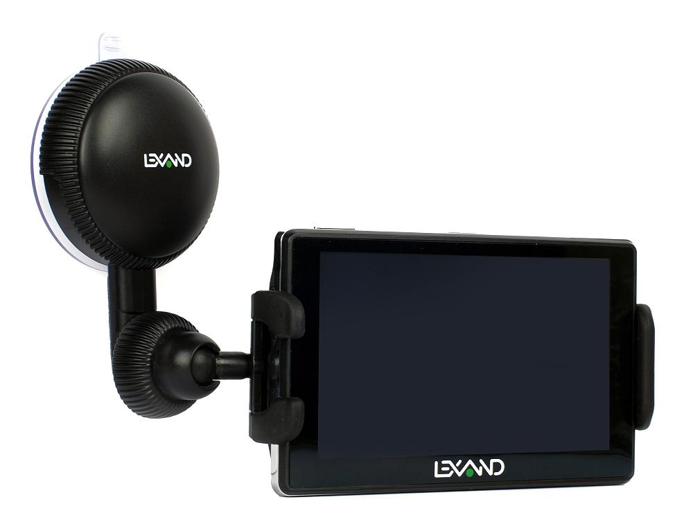 Универсальный автомобильный держатель LEXAND LМ-701 для GPS, КПК, смартфонов. MP3/MP4 плеера (с шириной от 10,5 до 14,5 см), поворот 360° автомобильный видеорегистратор lexand lr15