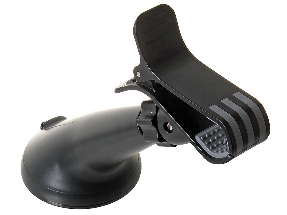 Универсальный Автомобильный Держатель Ginzzu GH-386B Шириной до 100 мм, крепление на лобовое стекло, поворотный механизм 360°