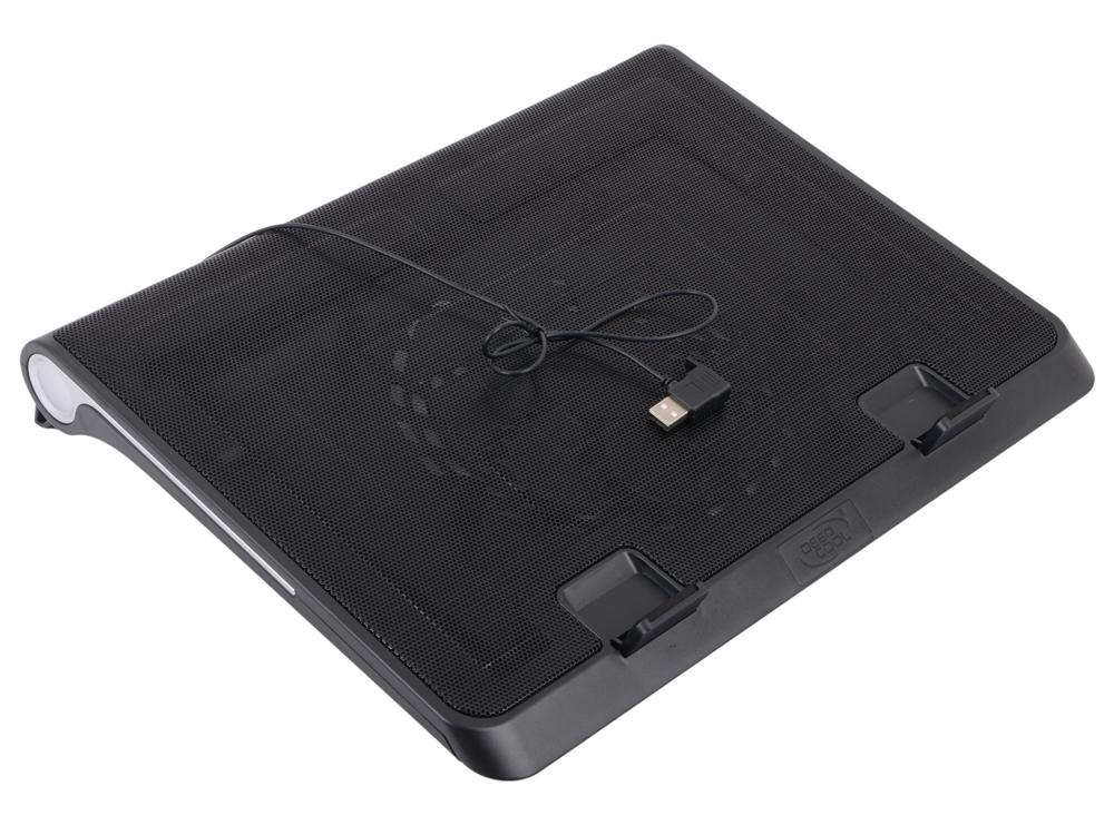 "Теплоотводящая подставка под ноутбук DeepCool N180 FS (до 17"", вентилятор 180мм, Metal Mesh Panel+Plastic base, сквозной USB)"