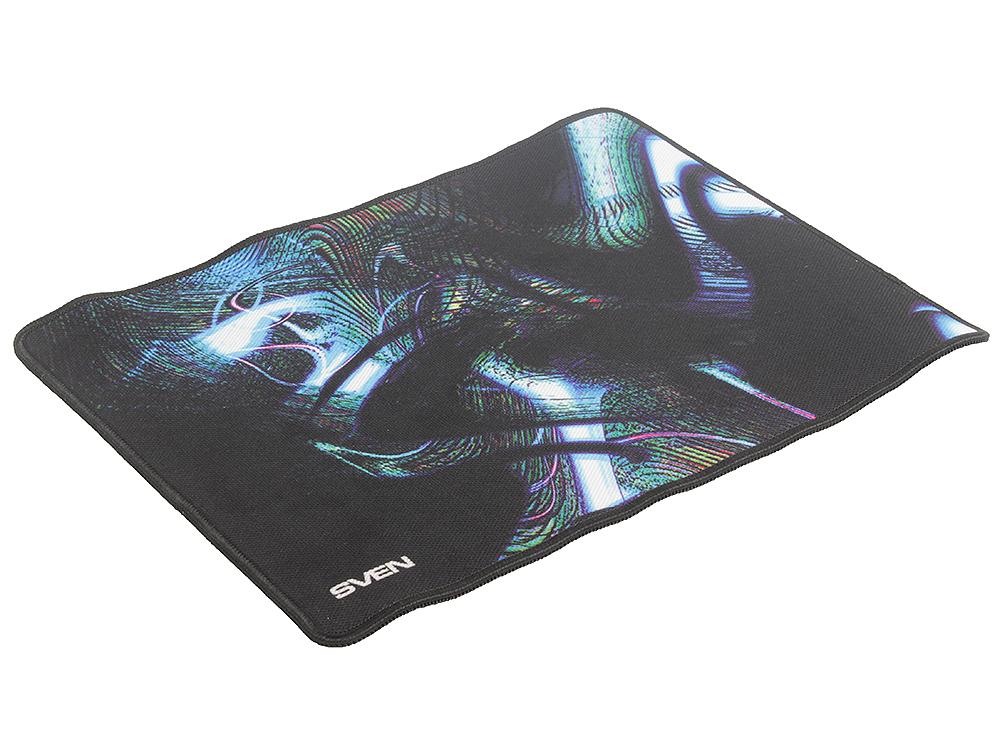 Коврик для мыши SVEN GS-M (SV-011307) ,игровой, тканевая поверхность,оверлочная строчка по краю,нескользящая каучуковая основа