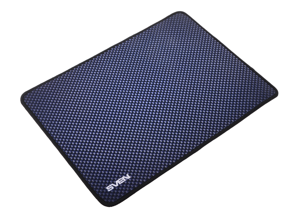 все цены на Коврик для мыши SVEN GS-S (SV-011291) ,игровой, поверхность из ткани пике,оверлочная строчка по краю,нескользящая каучуковая основа