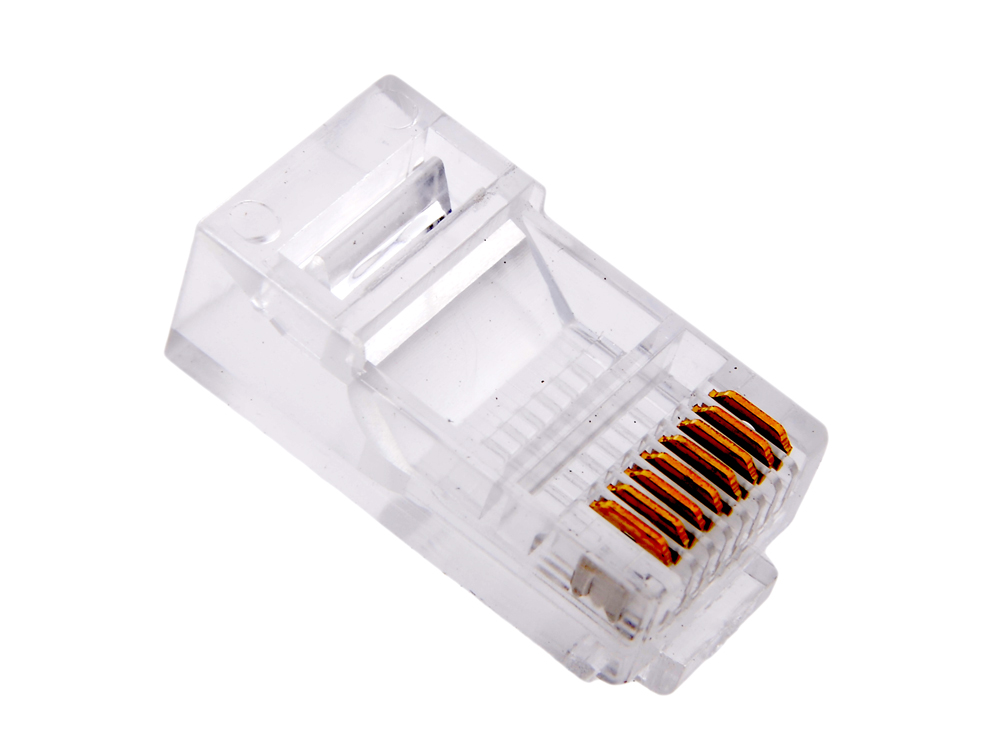 Коннекторы RJ-45 (8P8C) для UTP кабеля 5 кат. Aopen (ANM005)\VCOM (VNA2200) 100 шт в пакете разъем itk rj 45 utp для кабеля кат 5е 8p8c cs3 1c5eu