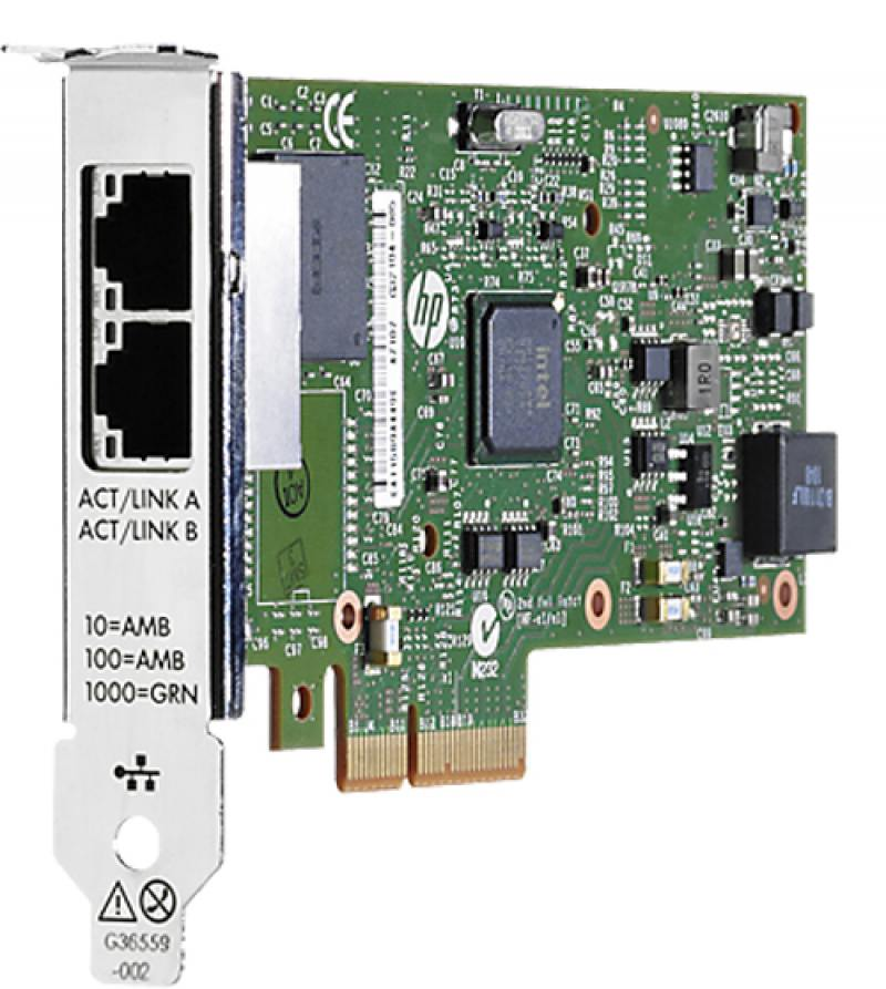 Адаптер HP Ethernet 1Gb 2P 361T Adptr(652497-B21) сетевая карта для сервера hp ethernet 1gb 4 port 331flr adapter 629135 b22