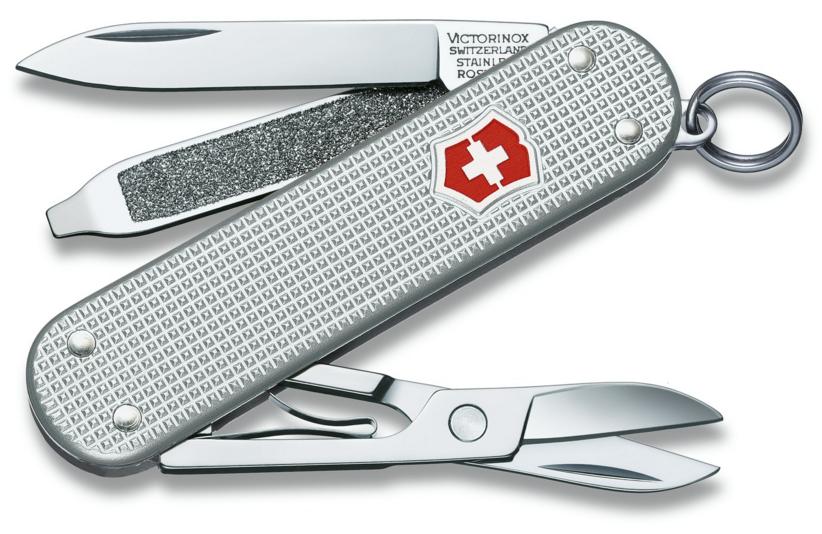 Нож перочинный Victorinox Alox 0.6221.26 58мм 5 функций алюминиевая рукоять серебристый