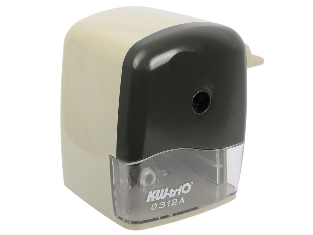 Точилка механическая KW-trio пластиковый корпус ассорти 312A точилка для карандашей kw trio 30h2 электрическая черный