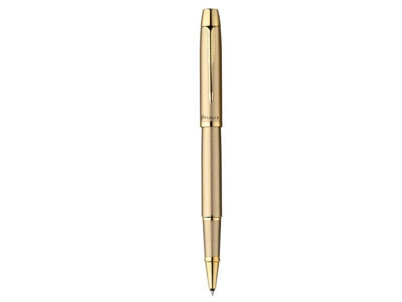 Ручка-роллер Parker IM Metal T223 чернила черные корпус золотистый R0811700 ручка роллер parker im metal t220 s0856410 gun metal ct f черные чернила подар кор