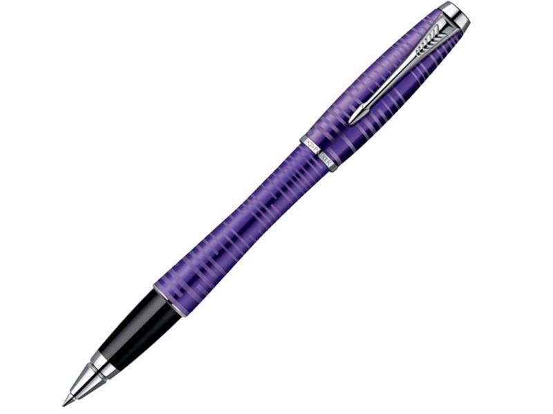 Ручка-роллер Parker Urban Premium Vacumatic T206 Amethyst Pearl чернила черные корпус фиолетовый 190 перьевая ручка parker urban premium vacumatic f206 silver blue pearl перо f 1906868