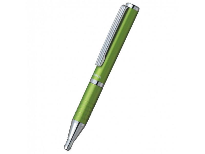 Шариковая ручка Zebra SLIDE чернила синие корпус зеленый BP115-LG ручка шариковая zebra slide bp115 pu авт телескопич корпус фиолет синие чернила подар коробка