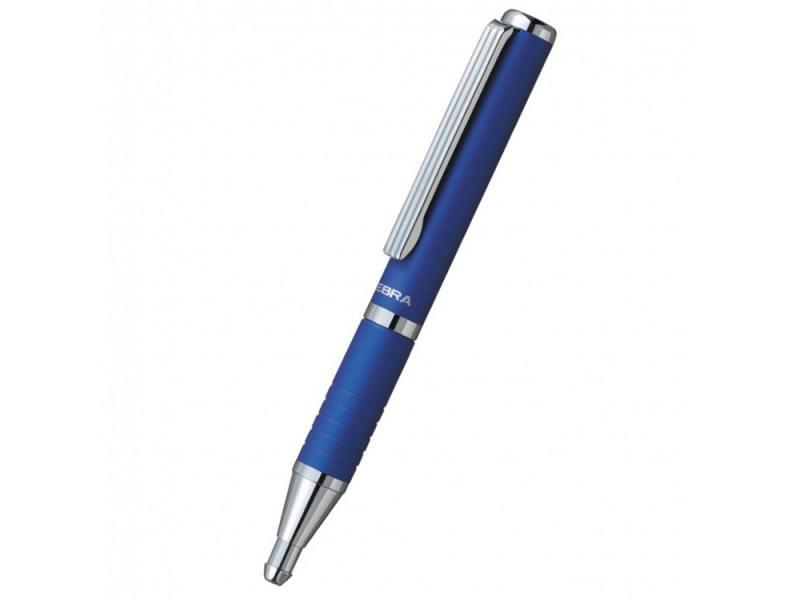 Шариковая ручка Zebra SLIDE чернила синие корпус синий BP115-BL шариковая ручка zebra slide чернила синие корпус белый bp115 wh 23476