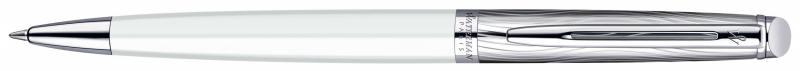 Шариковая ручка Waterman Hemisphere Deluxe чернила синие корпус бело-серебристый S0921310 шариковая ручка waterman hemisphere deluxe privee чернила синие 1971678