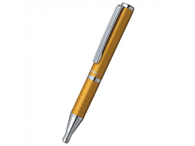 Шариковая ручка Zebra SLIDE чернила синие корпус оранжевый ручка шариковая zebra slide bp115 pu авт телескопич корпус фиолет синие чернила подар коробка