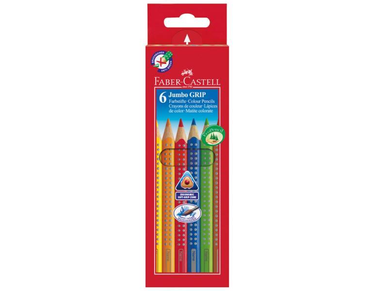 Карандаши цветные Faber-Castell Jumbo Grip 6 цветов 110906 карандаши цветные акварельные faber castell art grip aquarelle 114212 12цв мет кор
