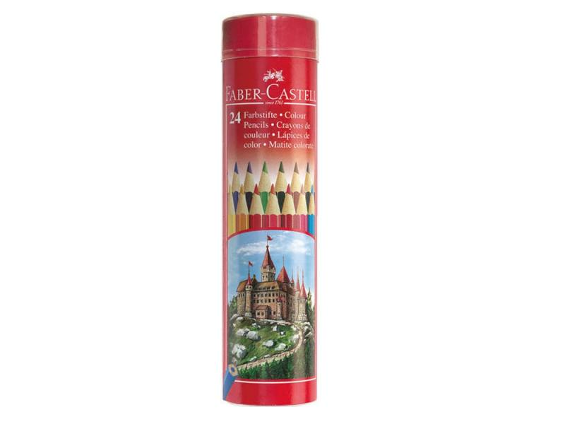 Карандаши цветные Faber-Castell Colour Pencils 24 цвета 115827 faber castell 3 holes professional pencil sharpener for wood pencils painting supplies 1838