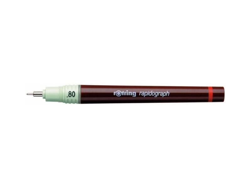 Рапидограф Rotring 0.80мм съемный пишущий узел/заправка тушь сменный картридж 1903474 рапидограф rotring 1903237 0 25мм съемный пишущий узел сменный картридж