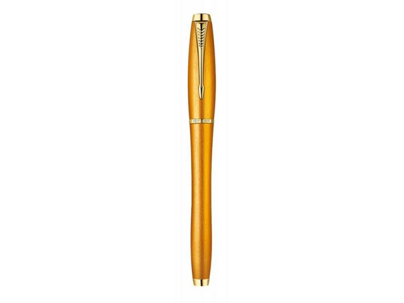 Ручка перьевая Parker Urban Premium F205 Mandarin Yellow перо F желтый 1892540 перьевая ручка parker urban premium vacumatic f206 silver blue pearl перо f 1906868