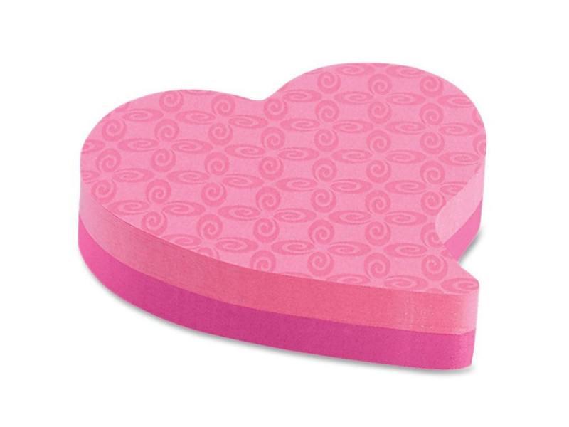 Блокнот 3M 7350-HRT Сердце 73.6х71.1мм 150л china hrt