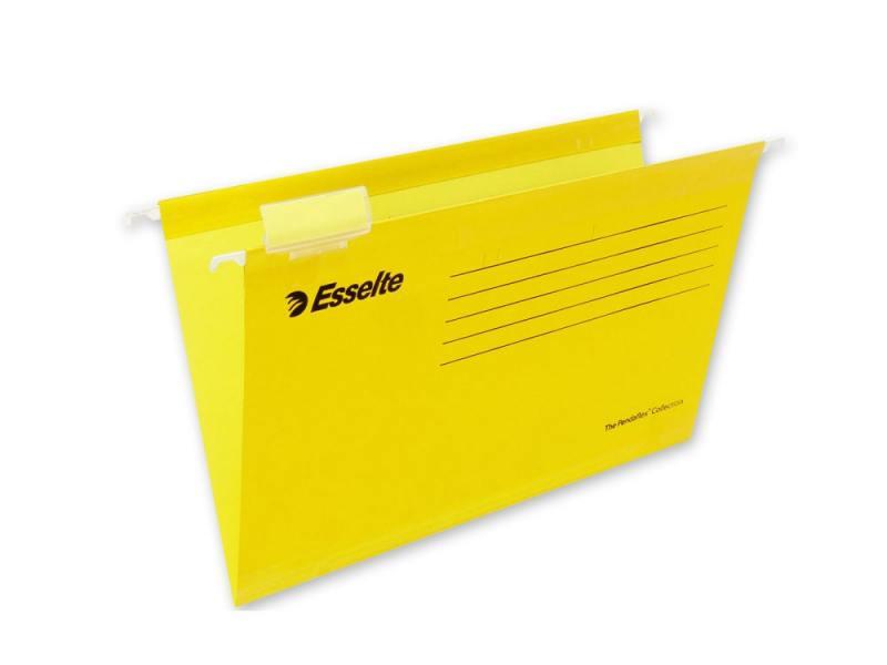 Папка подвесная Esselte Pendaflex Plus Foolscap 405x365x242мм 25шт желтый 90335 папка вкладыш esselte 56171