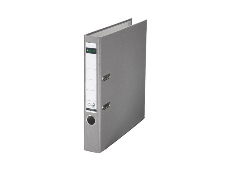 Папка-регистратор Leitz А4 50мм пластик серый 10151285P