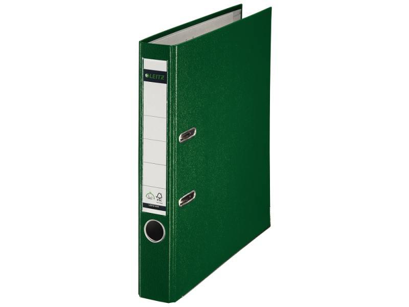 Папка-регистратор Leitz А4 50мм пластик зеленый 10151255P