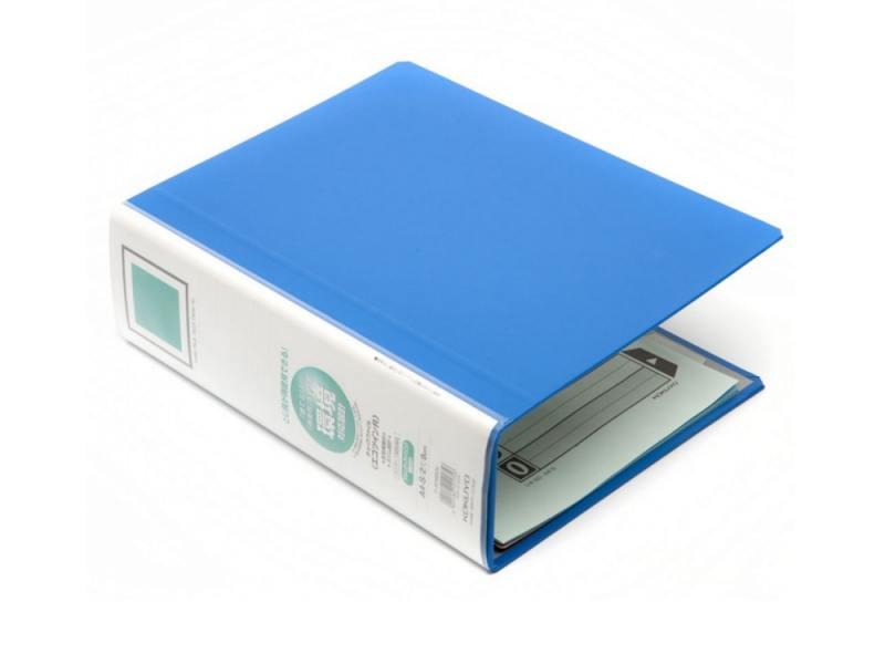 Папка-регистратор Kokuyo TUBE RT680B A4 80мм 5 разделителей синий 5 boxes huanqiu disposable sterile acupuncture tube with ring needle 100pcs box