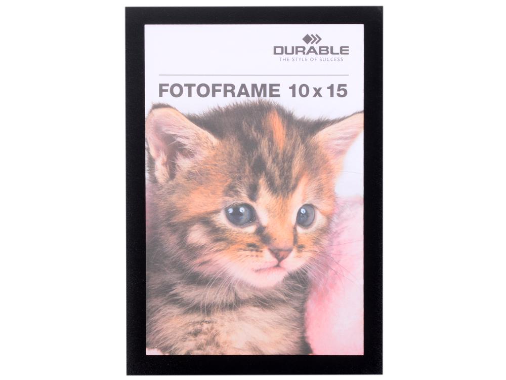 Магнитная рамка информационная Durable Fotoframe 10x15см настенная черный 488501