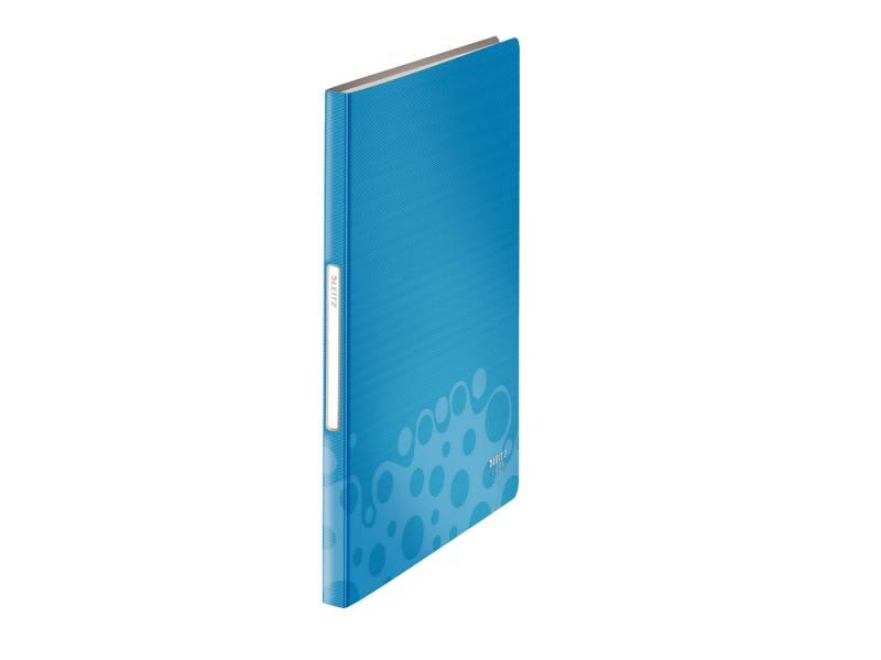 Папка с 20 прозрачными вкладышами Leitz Bebop синий 45640037 папка aro c 20 вкладышами